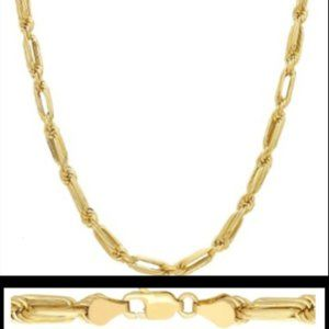 BAGUETTE ROPE CHAIN 10K GOLD NECKLACE